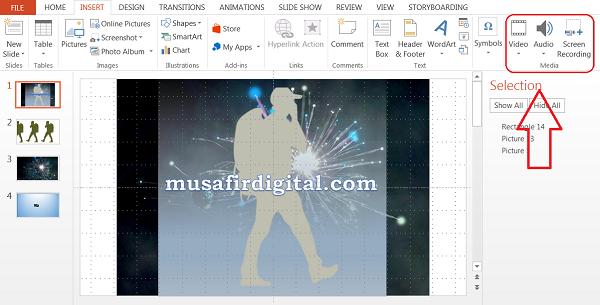 Beberapa fitur membuat powerpoint bisa menjadi alternatif software edit video ringan
