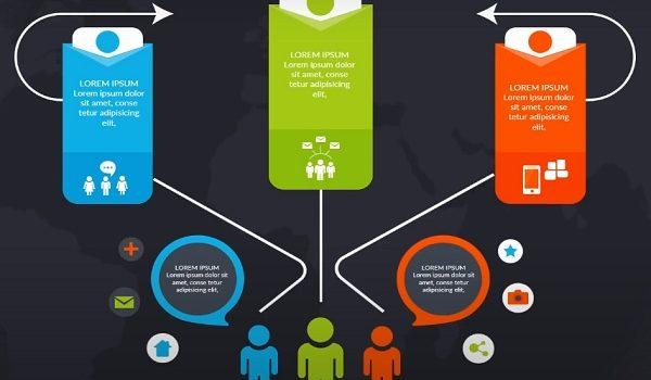 template infografis Levidio powerpoint